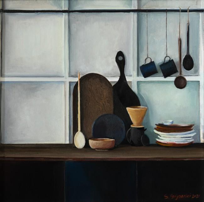 Cucina nera con boiserie - Sara Signorini
