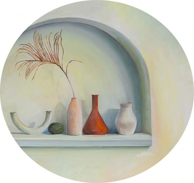 Arco bianco e vasi - Sara Signorini