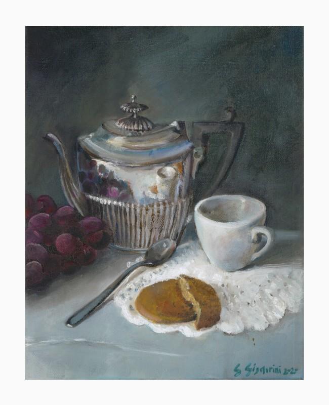 Tè d'argento e merletti
